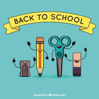 Happy cartoon school mamterials