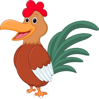 Happy chicken cartoon