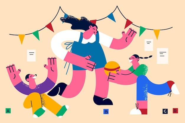 행복한 어린 시절과 부모 개념
