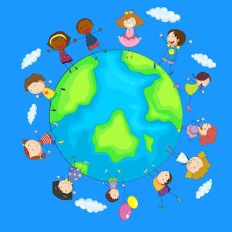 Bambini felici in tutto il mondo