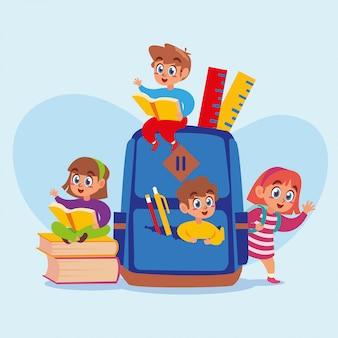 Happy children back to school