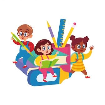 Счастливые дети снова в школу