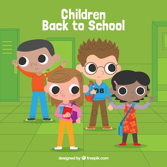 Happy children back to school