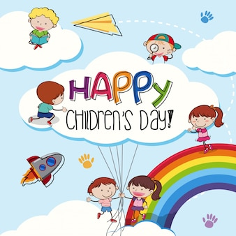 Happy children day template