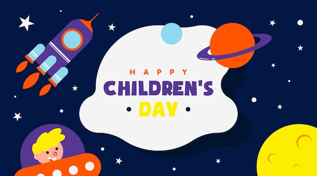 Happy children's day background illustration