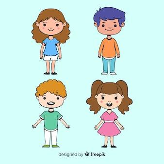 Felice raccolta di personaggi per bambini