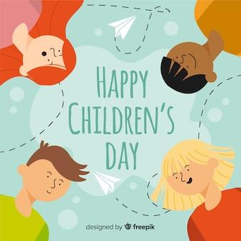 Felice giornata dei bambini in design piatto