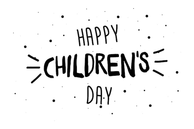 Happy childrens day greeting card, banner or poster. 1 june world family holiday event design. vector illustration