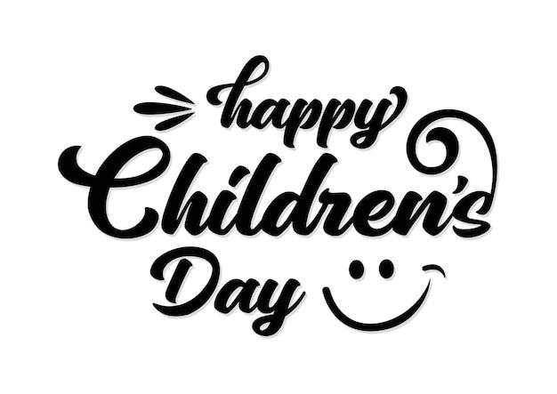 Happy childrens day for international children celebration vector illustration