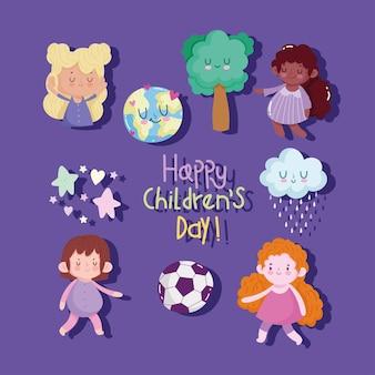 Плакат с днем защиты детей
