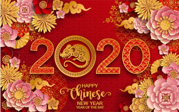 Happy chinese new year 2020. year of the rat