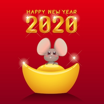 Happy chinese new year 2020 year of the rat.