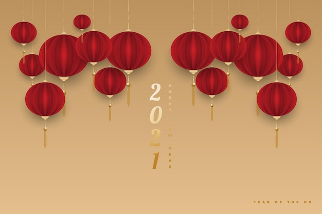 Happy chinese new year 2021 year of the ox.