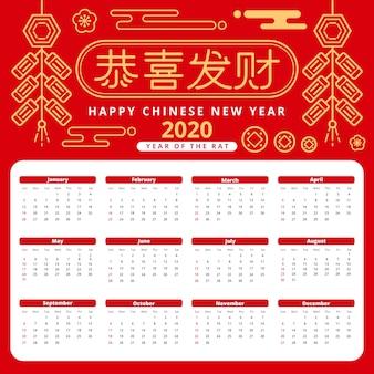 フラットなデザインで幸せな中国の新年