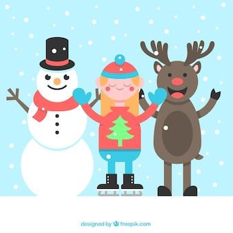 Счастливые символы рождества