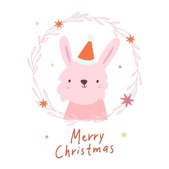 Счастливого рождества милый кролик