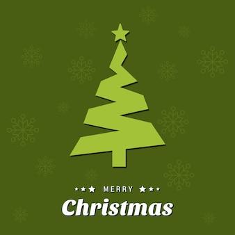 ハッピークリスマス。明けましておめでとうございます。メリークリスマス。緑色の背景にある緑のxマス