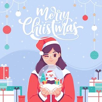 Счастливого рождества иллюстрации фон