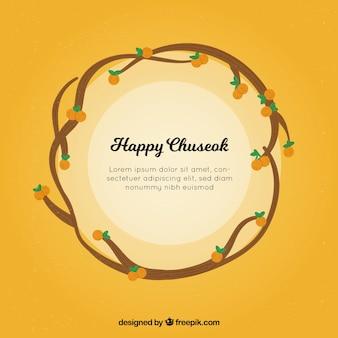 Happy chuseok background