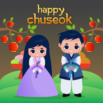 Happy chuseok illustration
