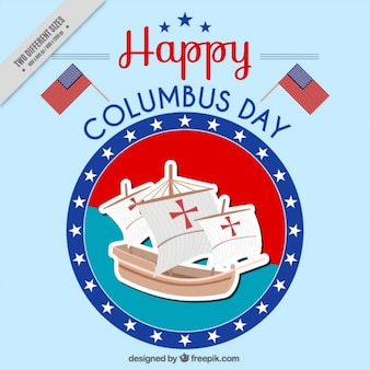 Happy columbus day background