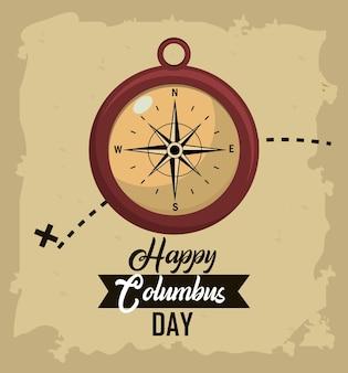 Happy columbus day card