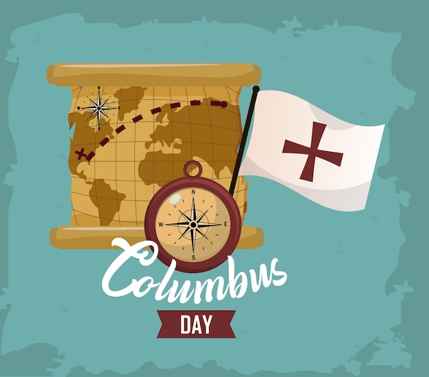 Happy columbus day card