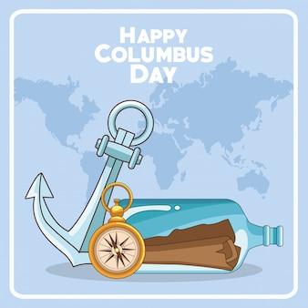 Happy columbus day design