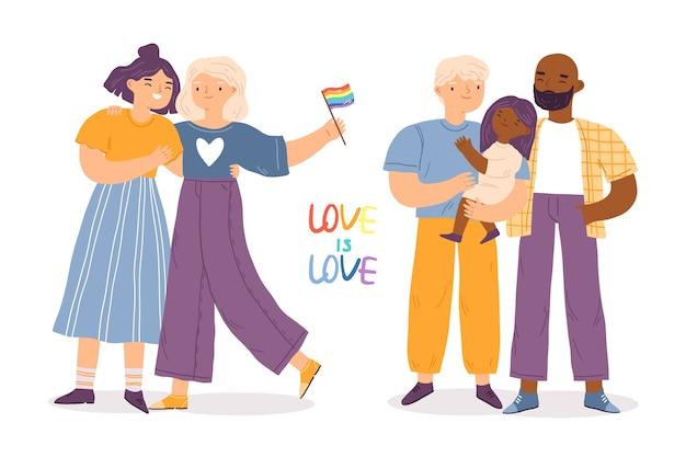 Счастливая пара и детский день гордости