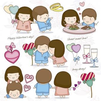 バレンタインの日で幸せなカップル