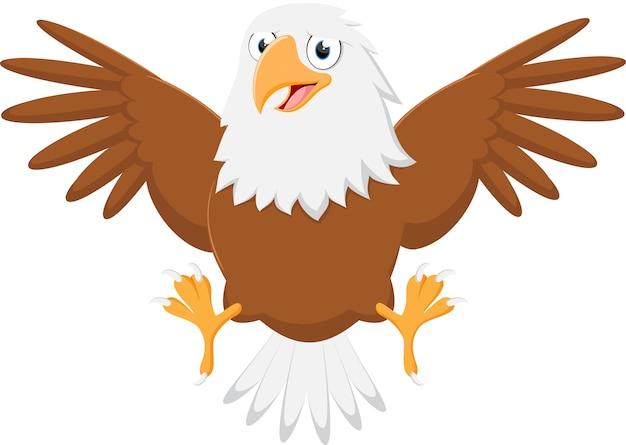 행복 한 귀여운 독수리 만화