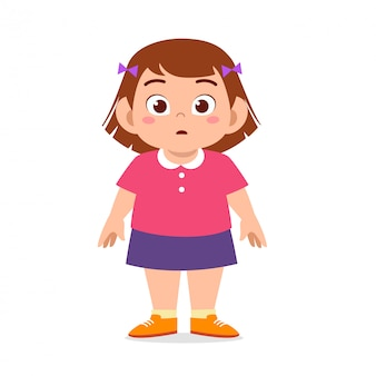 Happy cute girl standing