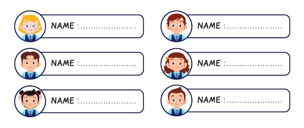 Name Badge Template Free from img.freepik.com