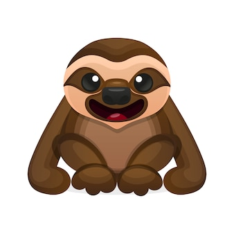 Happy cute sloth