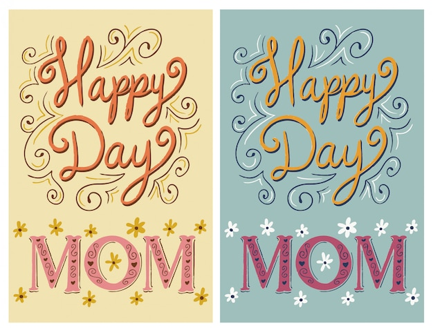 Happy day, mom - greeting card