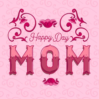 Красивый постер happy day мама