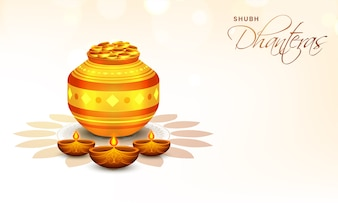 Happy Dhanteras Background.