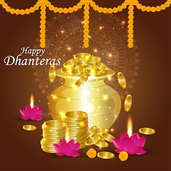 Happy dhanteras design
