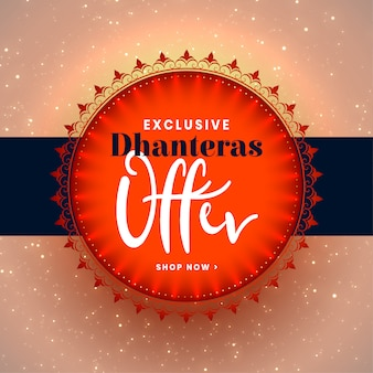 Happy dhanteras festival offers creative template