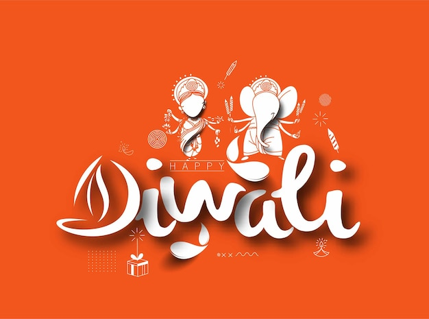 Happy diwali background design. abstract vector illustration.