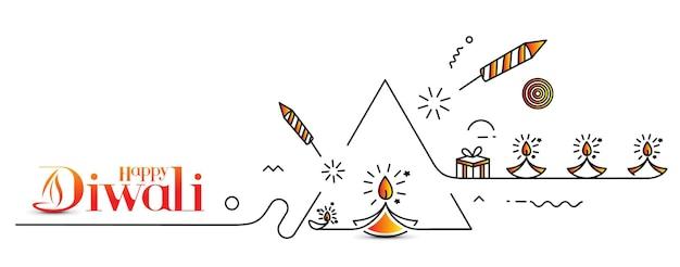 Счастливый фон дивали, векторные иллюстрации.