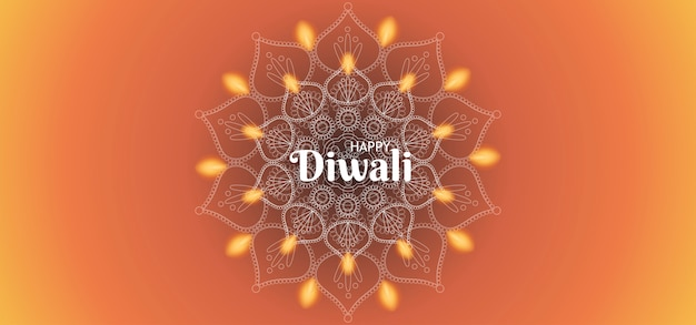 Happy diwali background with fire