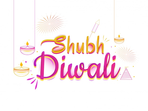 Happy diwali background.