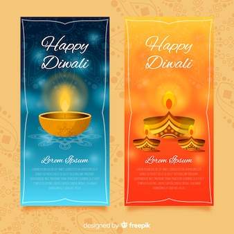Happy diwali banners collection