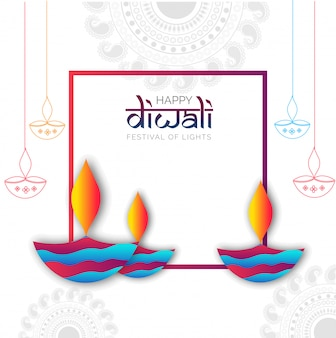 Счастливый праздник праздника Diwali.