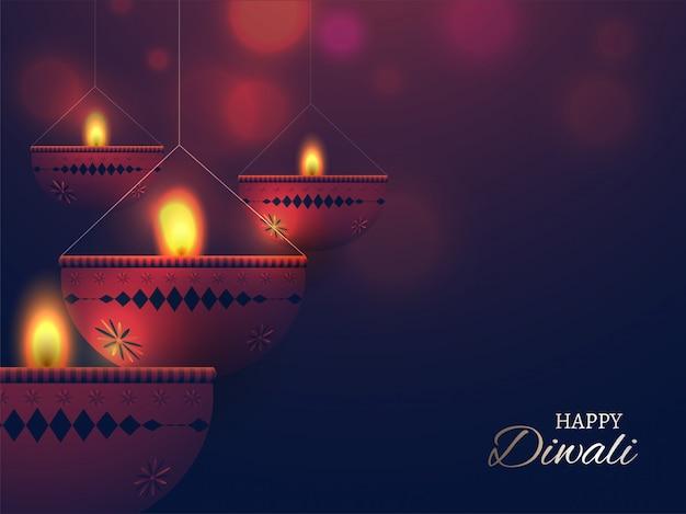 Happy diwali celebration background.