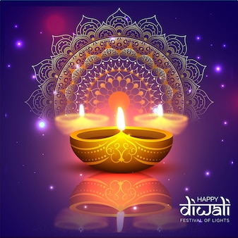 Happy diwali celebration background.