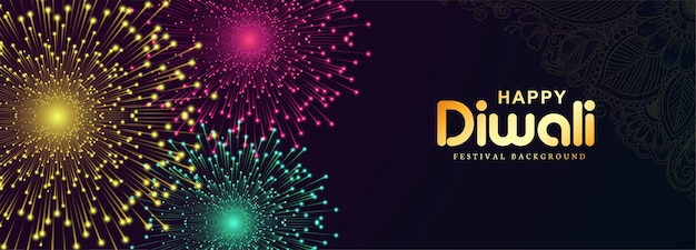 Happy diwali celebration banner background