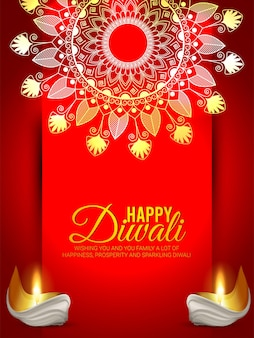 Happy diwali celebration greeting card