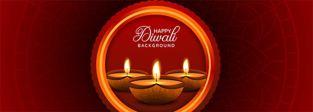 Happy diwali colorful banner template